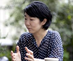 小川郁子:インタビュー風景