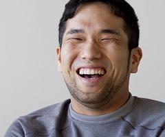 インタビュー風景:竹内紘三