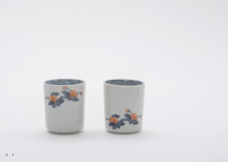 浜野マユミ「色絵櫻花紋 筒型猪口」