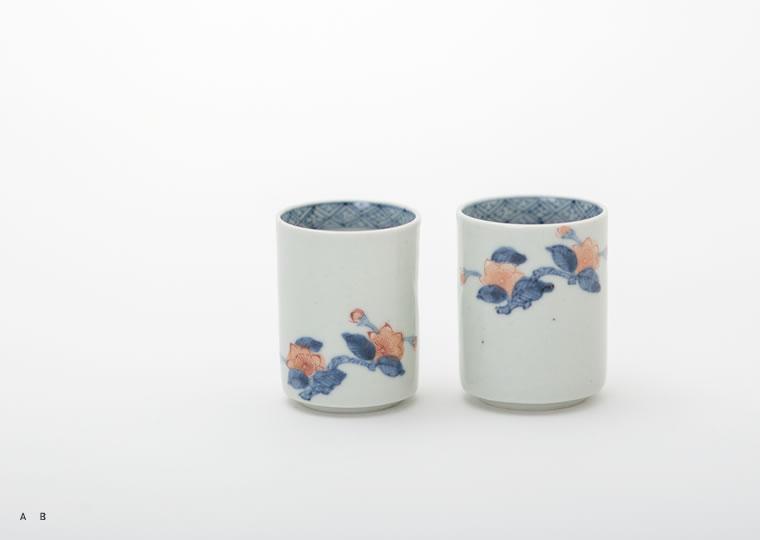 浜野マユミ「色絵櫻花紋筒型ぐい呑」