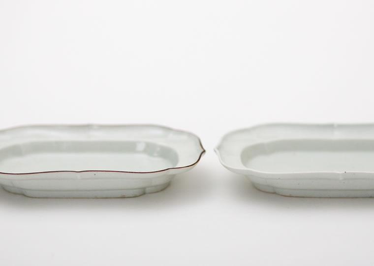 浜野マユミ「白磁 長皿」