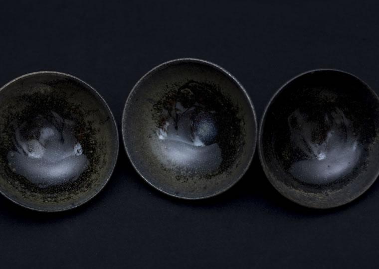 長谷川奈津「鉄釉碗」