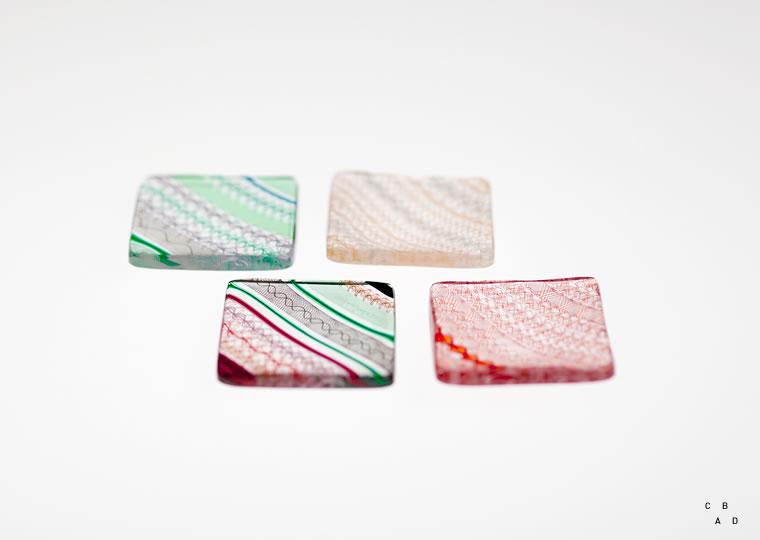小西 潮「角豆皿(5.5x5.5)」