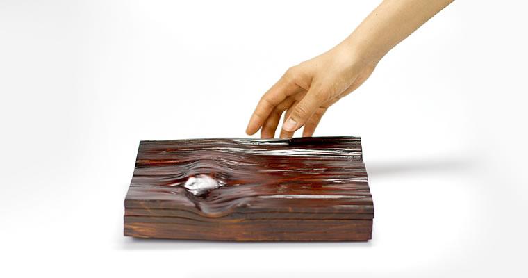 工藤茂喜「重ね溜塗り皿」
