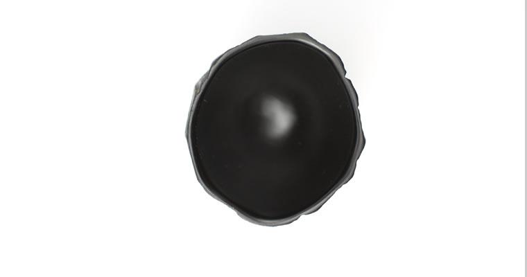 工藤茂喜「へぎ猪口(黒)」