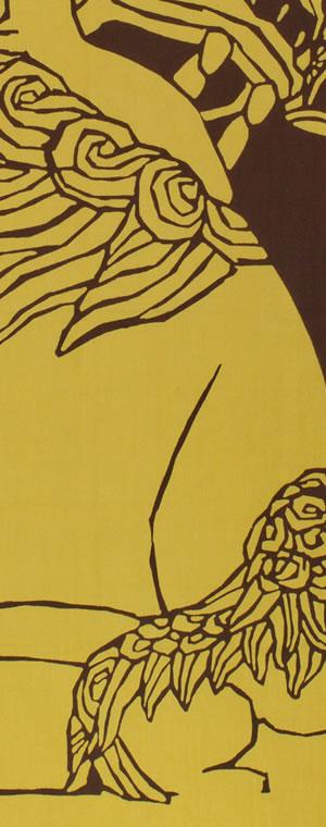 小倉充子「狛犬(阿)」