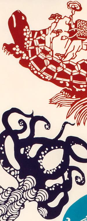 小倉充子「夏祭魚之図‐なつまつりととのず」