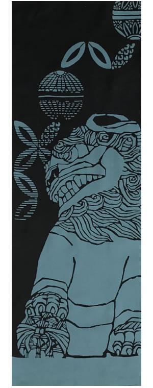 小倉充子「狛犬 阿吽 2017」