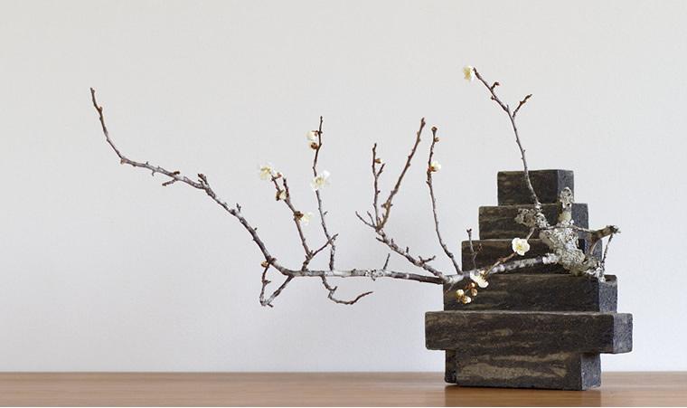 竹内紘三:現跡(砂縞)/花いけ:上野雄次