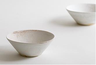 田淵太郎:薪窯白磁 小鉢