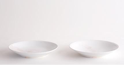 田淵太郎:薪窯白磁 5寸皿