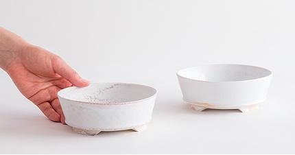 田淵太郎:薪窯白磁 3つ足小鉢