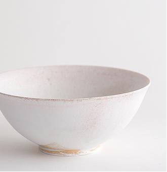 田淵太郎:薪窯白磁 丸鉢