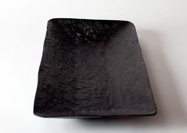 八代淳子「拭漆皿」